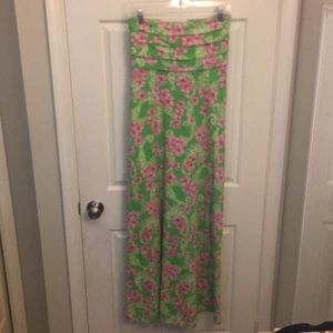 Strapless maxi Lilly dress